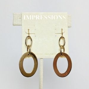 💢3 for $25💢Impressions Gold Oval Drop Earrings